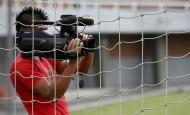 Las cámaras de televisión están listas para transmitir los partidos del rentado colombiano por Tigo-Une. FOTO DONALDO ZULUAGA
