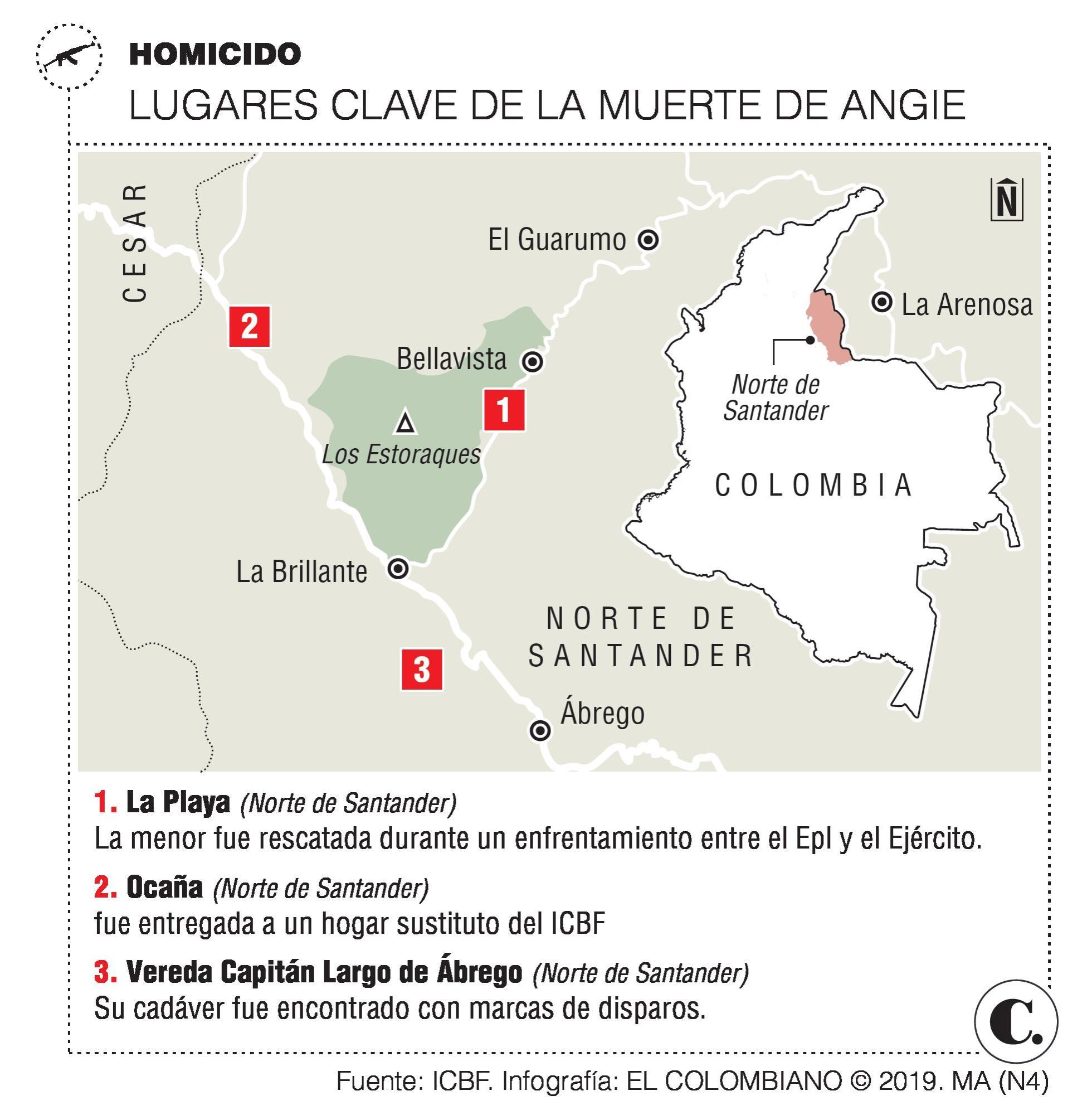 Investigan si EPL sería responsable de crimen de una menor en Ocaña