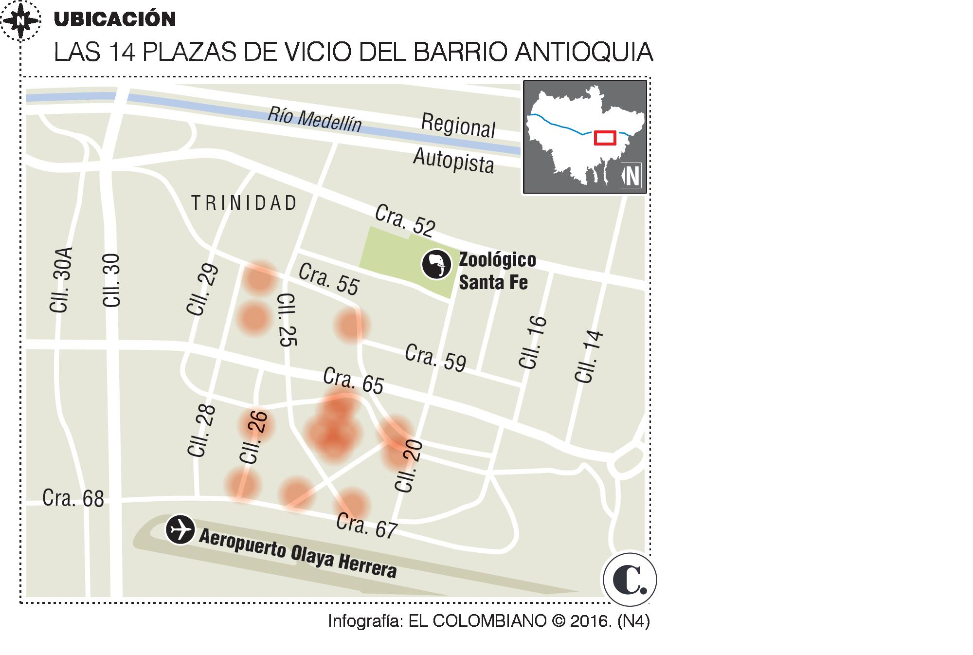 As opera el negocio de drogas en el Barrio Antioquia
