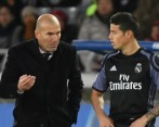 Zidane y James. Foto Getty