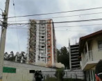 Implosión edificio Altos del Lago en Rionegro, Antioquia