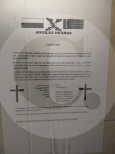 Panfleto de las Águilas Negras amenaza a estudiantes de la Universidad de Antioquia