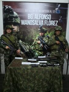 Ejército incauta armas y municiones al Eln en Chocó