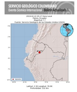 Dos temblores en Ecuador se sintieron en Colombia