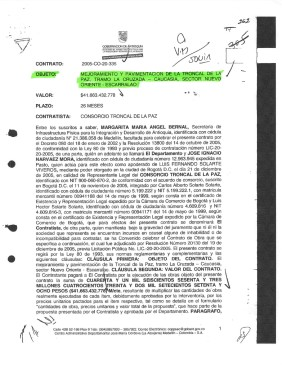 El contrato: 22/12/2005