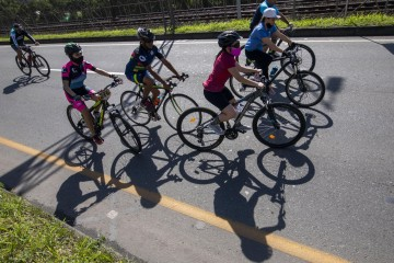 Regresó la tradicional ciclovía dominical