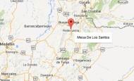 El epicentro del temblor se encuentra a 7,18 kilómetros al noroeste de la cabecera del municipio de Los Santos, Santader. FOTO GOOGLE EARTH