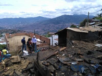 Incendio en Bello dejó 25 damnificados