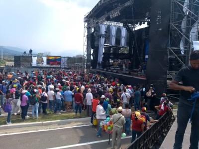 Concierto Hands off Venezuela organizado por Nicolás Maduro en la frontera con Colombia