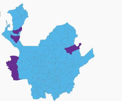 Duque ganó en todos los municipios de siete de las nueve subregiones del departamento.