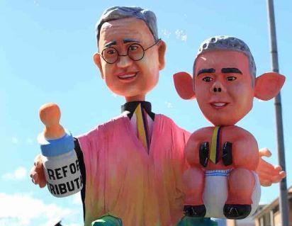 Polémica por año viejo de Duque y Uribe en desfile en Pasto
