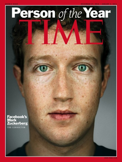 Mark Zuckerberg. En el año 2010 la revista Time eligió al creado de Facebook, la mayor red social del mundo.