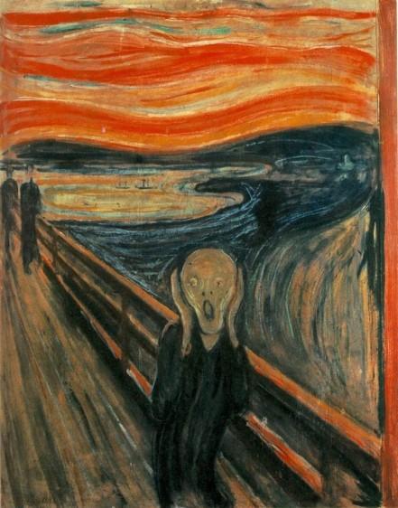 El grito, de Edvard Munch. Fue vendido por 105 millones de euros en Sotheby's, galería en Nueva York, el 2 de mayo de 2012. El grito es el título de cuatro cuadros del artista noruego. Ha sido objeto de robos. La versión más conocida, la de la Galería Nacional, fue robada en febrero de 1994 y recuperada dos semanas después.