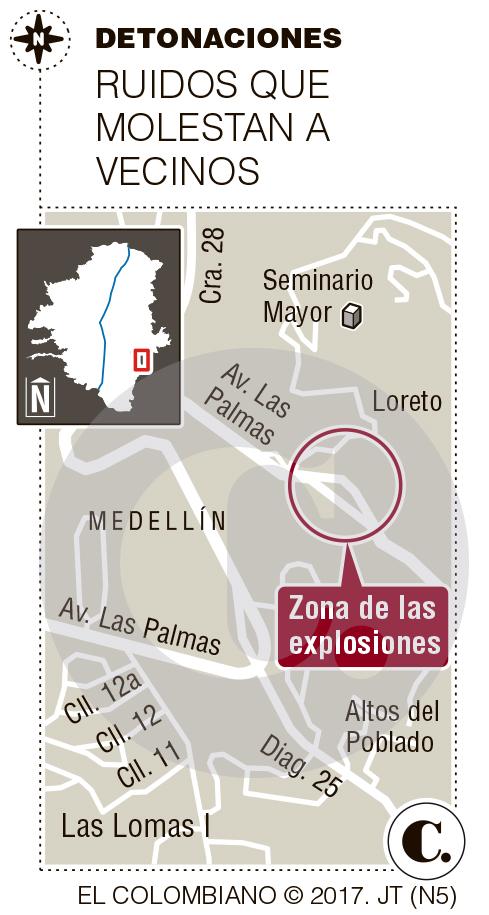 Molestia por explosiones en túnel de Oriente