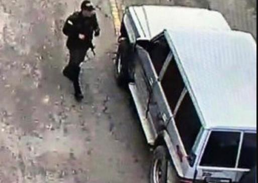 Esta era la camioneta que explotó en la Escuela de Policía General Santander, en Bogotá. Foto: Cortesía