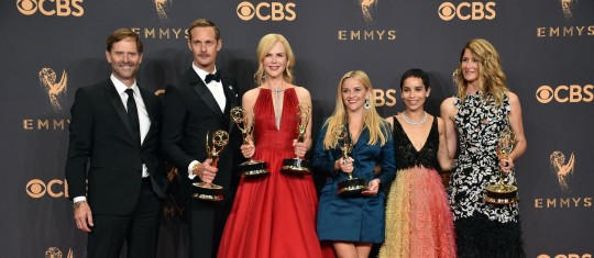 Big Little Lies y The Handmaid's Tale fueron las series con más premios durante la ceremonia. FOTO: AFP y Reuters
