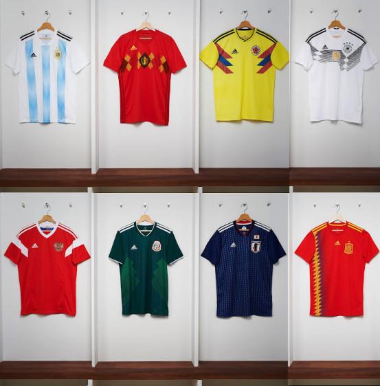 Adidas presentó este lunes varias de las camisetas que diseñó para las  selecciones de fútbol que 8674b9c7ccf93