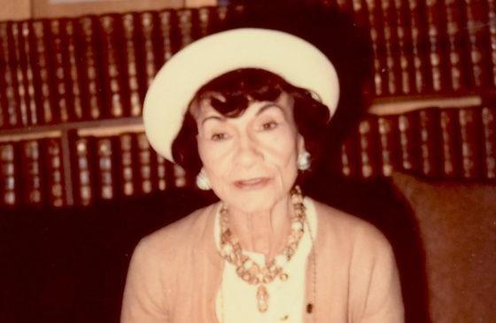 Coco Chanel en 1970.