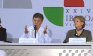 Juan Manuel Santos dijo en México que ese reconocimiento serviría solo para la participación política de las Farc. FOTO CORTESÍA