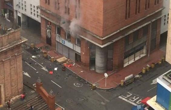 Fuerte explosión en sede de la Fiscalía de Cali