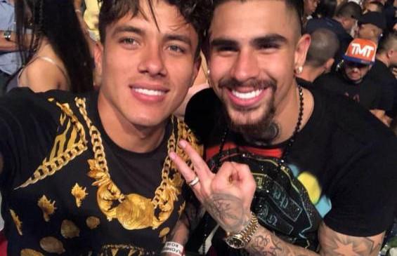 Andrés Felipe Roa, del Deportivo Cali y Juan Sebastián Quintero, del Sporting. Foto Instagram @johanmojica