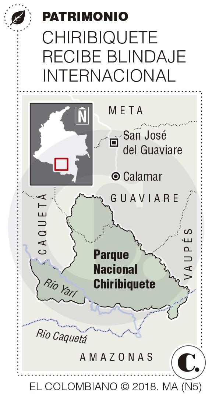 Chiribiquete, patrimonio de Unesco y un mandato