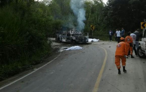 Dos policías muertos en ataque con explosivos en Colombia