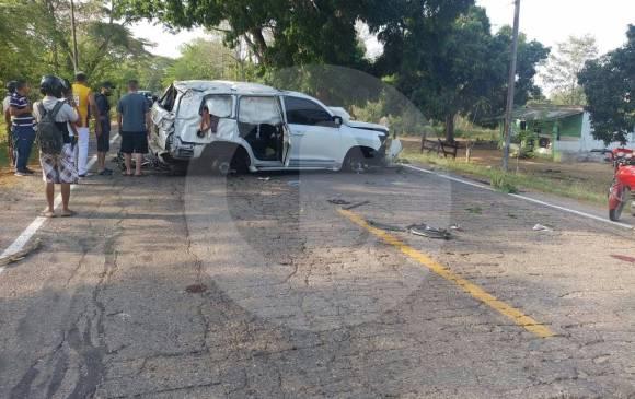 Esta es la camioneta en que Martín Elías se transportaba por las carreteras de Sucre. FOTO CORTESÍA LAURA RIVERA CORREA