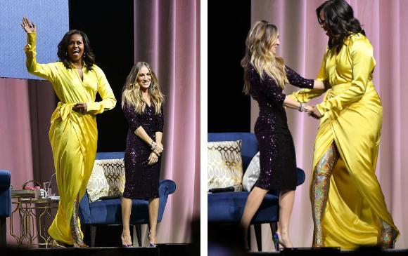 Michelle Obama y Sarah Jessica Parker. FOTOS AFP