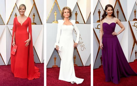 Allison Janney, preparada para ganar; Jane Fonda, radiante a sus 80 años y Ashley Judd. FOTOS AFP y Reuters