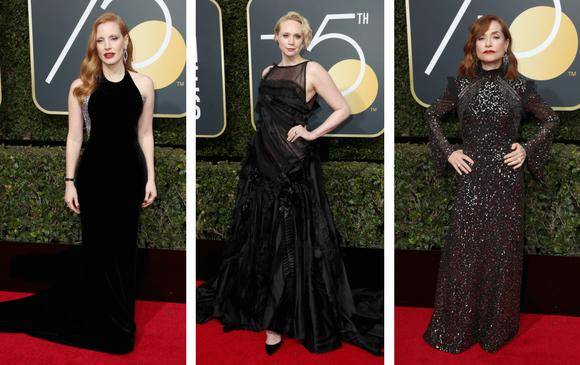 Jessica Chastain Gwendoline Christi de Game of Thrones y Isabelle Huppert. FOTOS AFP