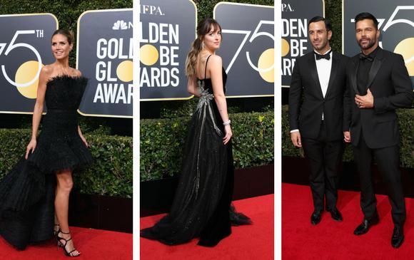 Heidi Klum, Dakota Johnson, Jwan Yosef y Ricky Martin. FOTOS AFP