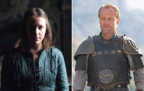 Yara y Jorah, personajes de Game of Thrones. FOTOS Cortesía HBO