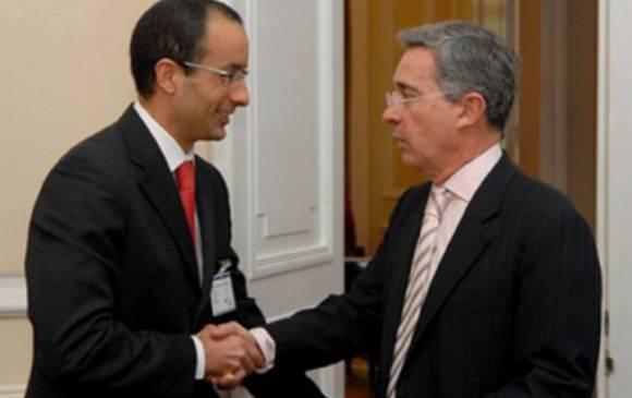 La Oficina de Prensa de la Presidencia de la República documentó la reunión entre Álvaro Uribe y Marcelo Odebrecht. FOTO ARCHIVO