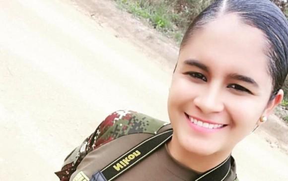 La militar Nubia Alejandra López Correa estaba de vacaciones en Saravena, Arauca, cuando fue secuestrada. FOTO CORTESÍA