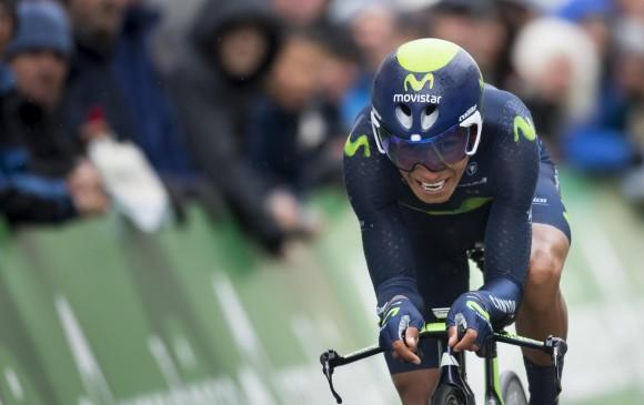Nairo Quintana ganó la crono individual y es el nuevo líder de la Ruta del Sur. FOTO AP