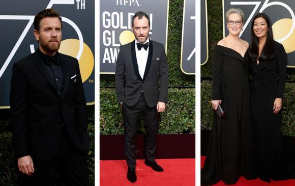 Ewan McGregor, Jude Law, Meryl Streep y Ai-jen Poo. FOTOS Reuters y AFP