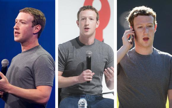 Mark Zuckerberg y su infaltable camiseta gris. FOTOS AFP Y Sstock