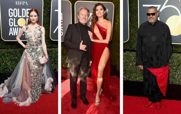 Desentonaron con la etiqueta la modelo Barbara Meier, la actriz Blanca Blanco (en el medio) y Laurence Fishburne. FOTOS AFP