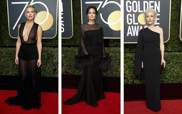 Kate Hudson, Angelina Jolie y Gillian Anderson de los Archivos X. FOTOS AFP