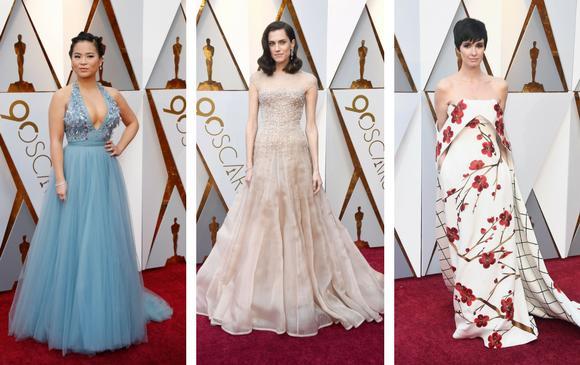 Kelly Marie Tran de Star Wars: los últimos Jedi; Allison Williams de la cinta Huye y la actriz española Paz Vega. FOTOS Reuters y AFP