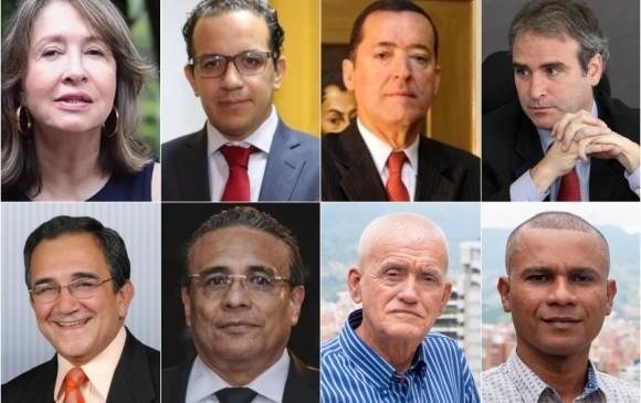 Los ocho miembros que, junto con el alcalde Daniel Quintero, conforman la junta directiva de EPM. FOTO: CORTESÍA