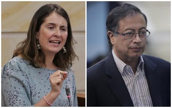 Paloma Valencia y Gustavo Petro se 'pelearon' por la Presidencia