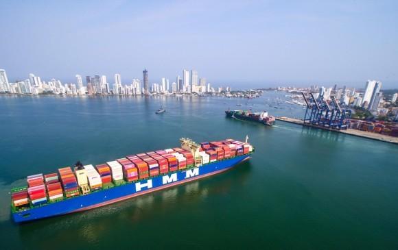 Transporte y logística esperan por señales más concretas de reactivación del comercio. FOTO: CORTESÍA GRUPO PUERTO DE CARTAGENA