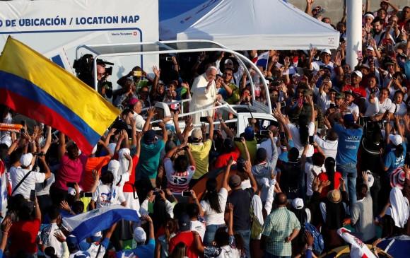 El papa Francisco encabezó la misa de cierre de la Jornada Mundial de la Juventud (JMJ), en Ciudad de Panamá. Foto: EFE.