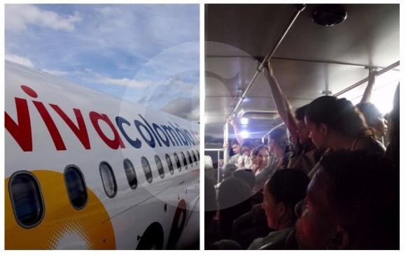 VivaColombia quiere llevar pasajeros de pie, como en un bus