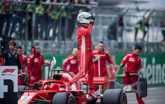 El Gran Premio de China será el número 201 en la carrera de Vettel. FOTO AFP