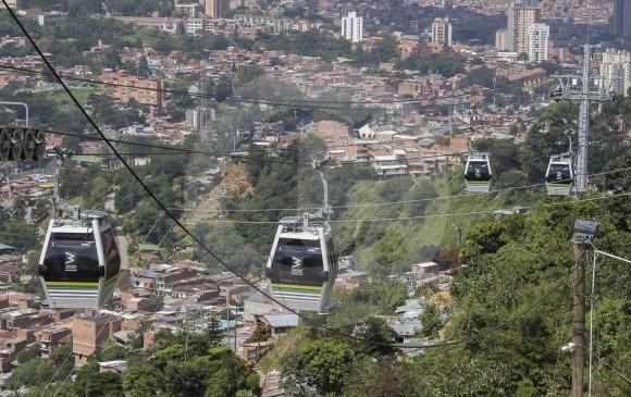 Metrocable de La Sierra. FOTO ROBINSON SÁENZ
