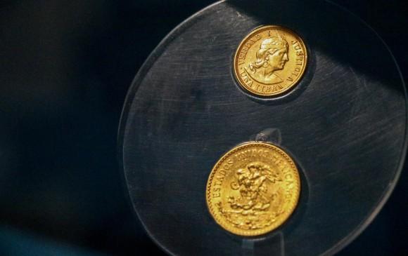 Moneda acuñada en oro del siglo XVIII Sala semipermanente de la Colección de Historia - Tercer piso MUUA