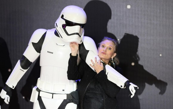 La actriz interpretó a la princesa Leia en Star Wars. FOTO Reuters